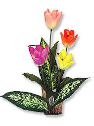 ดอกทิวลิปประดิษฐ์จากผ้า