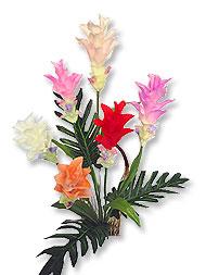 ดอกกระเจียวประดิษฐ์จากผ้า