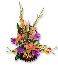 กระเช้าดอกไม้ประดิษฐ์